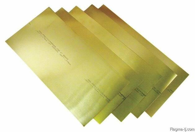 Латунные пластины 0.4 мм ЛС59-1 ГОСТ 2208-2007