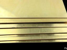 Латунные пластины 7 мм ЛС59-2 ГОСТ 2208-2007