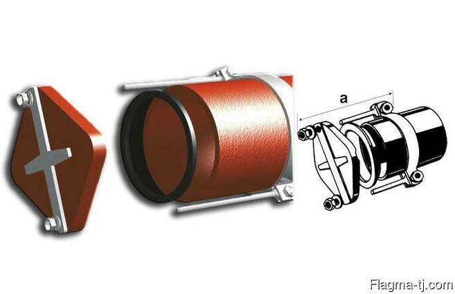 Безраструбная заглушка с прижимными скобами 125 мм FP-Preis