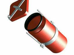 Безраструбная заглушка с прижимными скобами 125 мм ВЧШГ ГОСТ