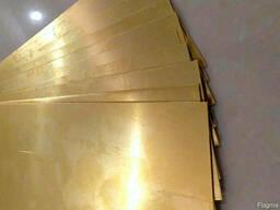 Латунные пластины 0. 1 мм ЛС59-1 ГОСТ 2208-2007