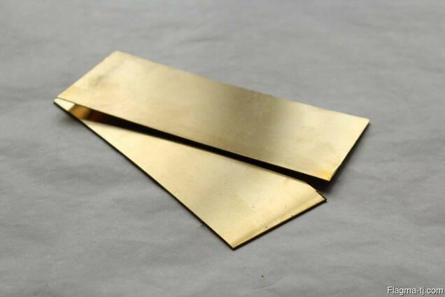 Латунные пластины 1 мм ЛМц58-2 ГОСТ 2208-2007
