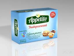 "Маргарин средне калорийный ""Appetito"" с мдж 72% 200гр"