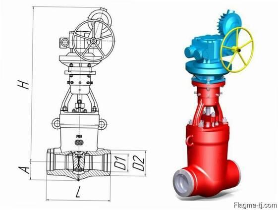 Задвижка Ду 100 Ру 235 1010-100-ЦЗ t=250°C